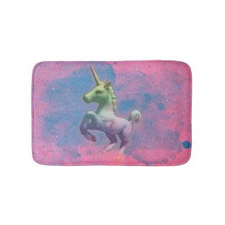 Estera de baño del unicornio (rosa de la