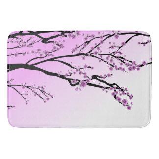 Estera de baño grande de encargo rosada de la flor