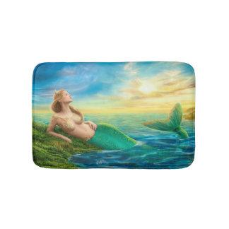 Estera de baño hermosa de la sirena de la fantasía