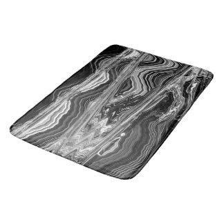 Estera de baño negra de la roca del artista C.L. Alfombrilla De Baño