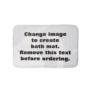 Estera de baño personalizada de la foto. ¡Haga sus