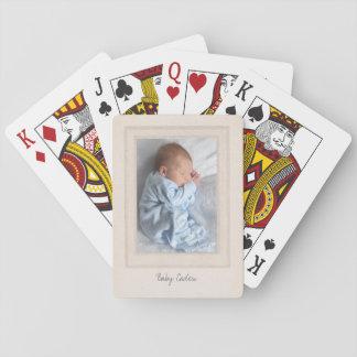 Estera de los años 40 del vintage con el parte barajas de cartas