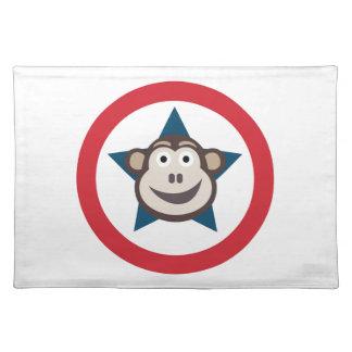 Estera de lugar estupenda del mono salvamanteles