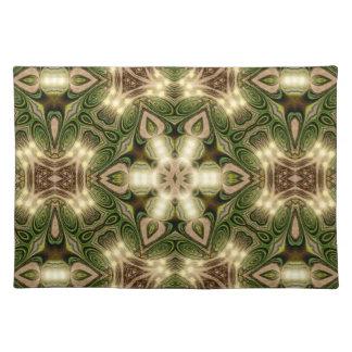 Estera de lugar geométrica de la mandala del mantel individual
