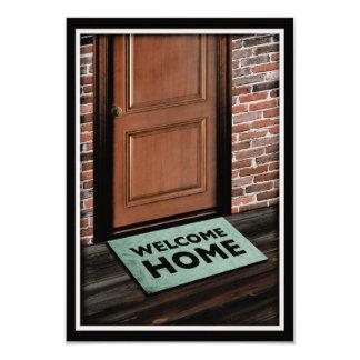 estera de puerta casera agradable comunicados personalizados