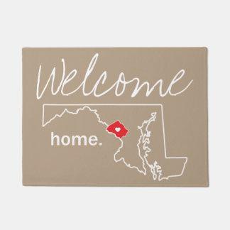 Estera de puerta casera del condado de Maryland -