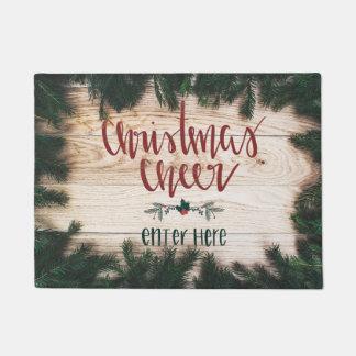 Estera de puerta de la alegría del navidad