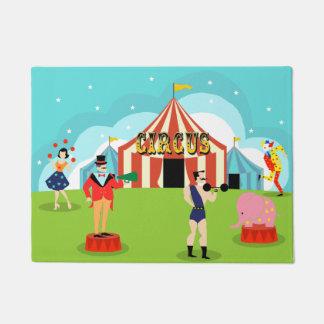 Estera de puerta del circo del vintage