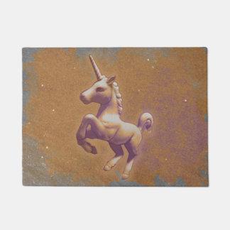 Estera de puerta del unicornio (lavanda del metal)