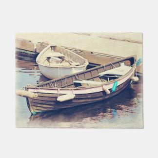 Estera de puerta náutica de dos barcos