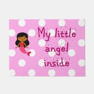 Estera de puerta para su pequeño ángel
