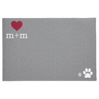 Estera gris personalizada del mascota de la