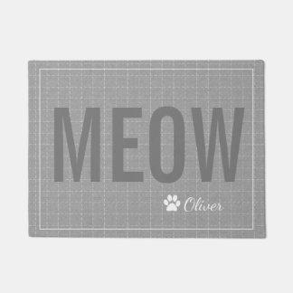Estera gris personalizada del mascota del gato del