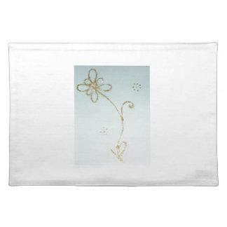 Esteras de lugar con la impresión de la flor manteles individuales