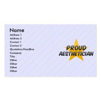 Estético orgulloso tarjeta de visita
