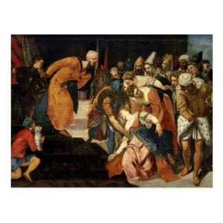 Esther antes de Ahasuerus, 1548 Postal