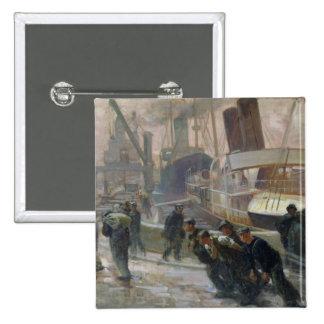 Estibadores de Liverpool en Dawn, 1903 Chapa Cuadrada 5 Cm