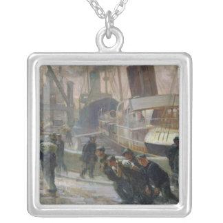 Estibadores de Liverpool en Dawn, 1903 Colgante Cuadrado