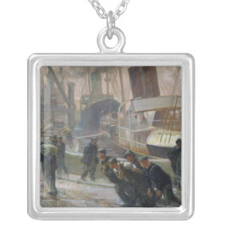 Estibadores de Liverpool en Dawn, 1903 Collar Plateado
