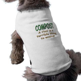 Estiércol vegetal camiseta sin mangas para perro