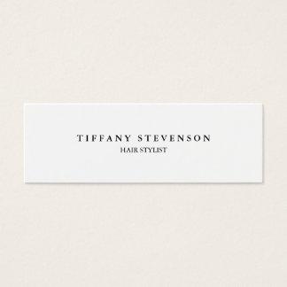 Estilista blanco profesional delgado llano simple tarjeta de visita pequeña