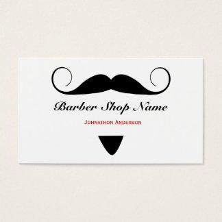 Estilista de moda de la peluquería de caballeros tarjeta de visita