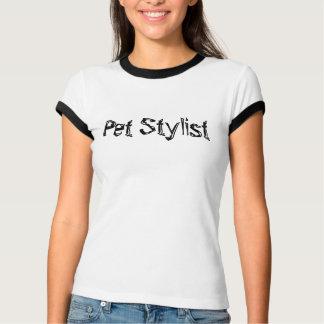 Estilista del mascota camiseta