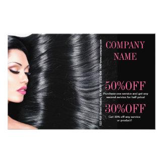 estilista elegante moderno del salón de belleza folleto 14 x 21,6 cm