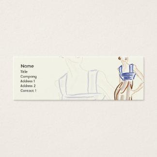 Estilista - flaco tarjeta de visita mini