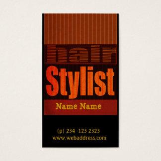 Estilista moderno nervioso de los salones de la tarjeta de negocios