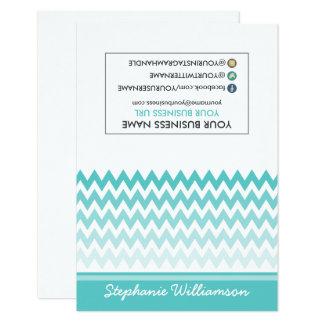 Estilista Ombre Chevron Notecards (azul tiffany) Invitación 8,9 X 12,7 Cm