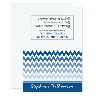 Estilista Ombre Chevron Notecards de la ETIQUETA Invitación 8,9 X 12,7 Cm