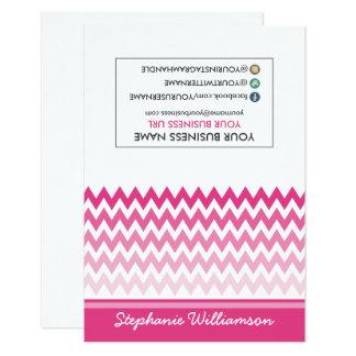 Estilista Ombre Chevron Notecards (fucsia) de la Invitación 8,9 X 12,7 Cm