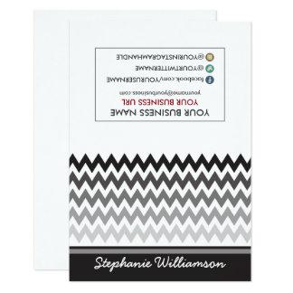 Estilista Ombre Chevron Notecards (negro) de la Invitación 8,9 X 12,7 Cm