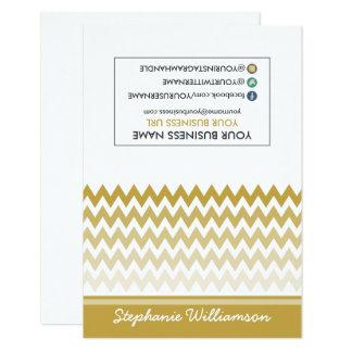 Estilista Ombre Chevron Notecards (oro) de la Invitación 8,9 X 12,7 Cm