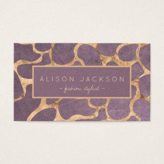 Estilista personal del papel pintado sofisticado tarjeta de visita