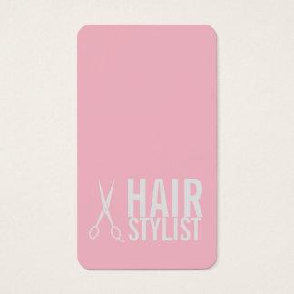 Estilista rosado - tijeras grises claras tarjeta de visita