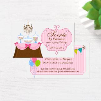 Estilista y diseño del acontecimiento tarjeta de negocios