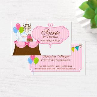 Estilista y diseño del acontecimiento tarjeta de visita