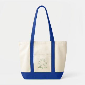 Estilizado recicle el bolso de compras del tote bolsa tela impulso
