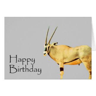 Estilo africano del safari del cumpleaños tarjeta de felicitación