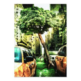 Estilo americano del taxi invitación 12,7 x 17,8 cm