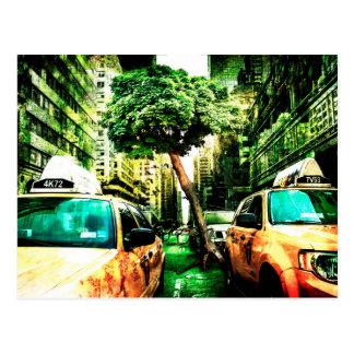 Estilo americano del taxi postal