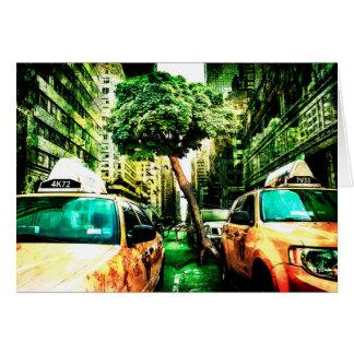 Estilo americano del taxi tarjeta pequeña