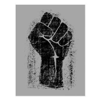 Estilo apenado Grunge del puño de la solidaridad Postal