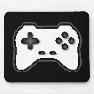 Estilo blanco del videojuego 8bit del negro del re alfombrilla de ratón