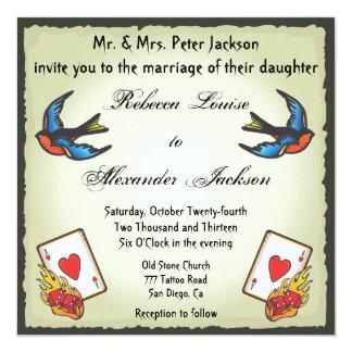 Estilo bonito de Vegas de la invitación del boda Invitación 13,3 Cm X 13,3cm