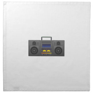 estilo Boombox de Hip Hop de los años 80 Servilleta De Tela