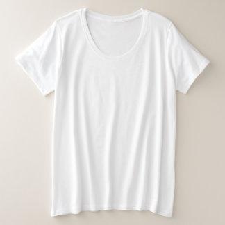 Estilo: Camiseta básica del tamaño extra grande de