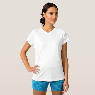 Estilo: Camiseta con cuello de pico Doble-Seca del
